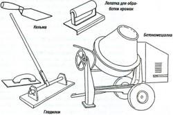 Инструменты для приготовления бетона