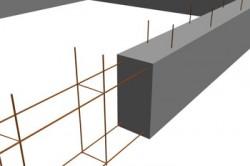 Схема бетонирования ленточного фундамента.