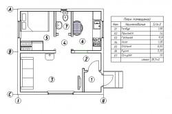Пример плана каркасного дома