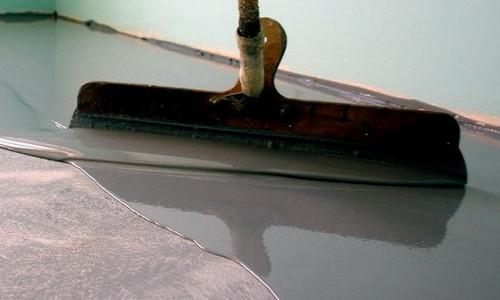 Пол из полимерного наливного бетона