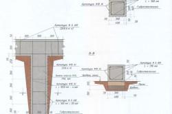 Примерный план столбчатого фундамента