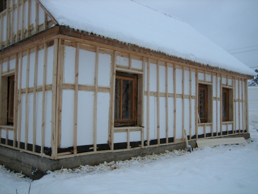 Утепление каркасного дома.