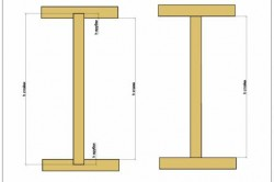Высота этажа и размеры стоек при разных вариантах крепления стоек.