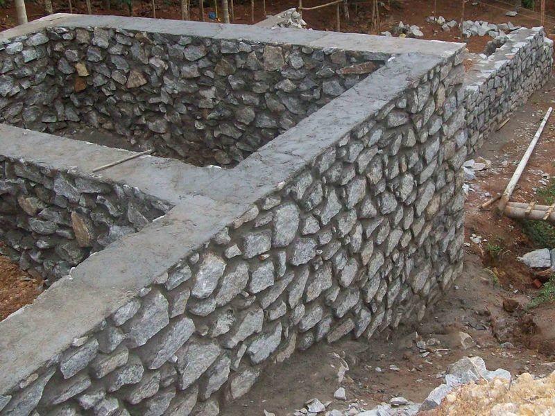 Фундамент из бутового камня.