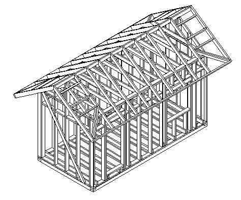 Пример схемы каркаса бытовки