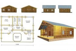 Схема-проект бани с террасой