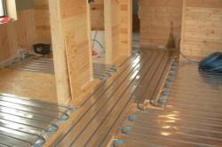Водяной пол на деревянной основе