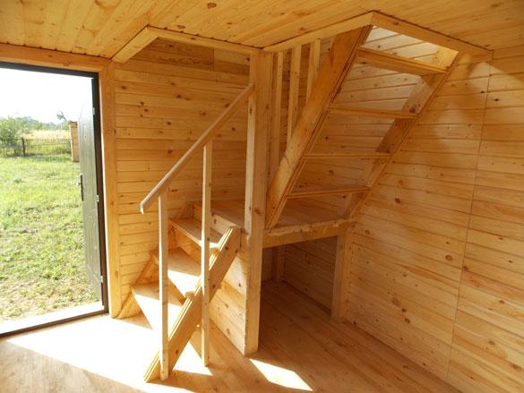 Внутренняя отделка каркасного дома с лестницей