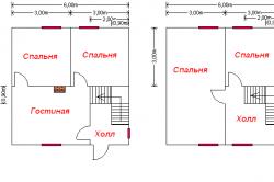 Варианты планировки каркасного дома
