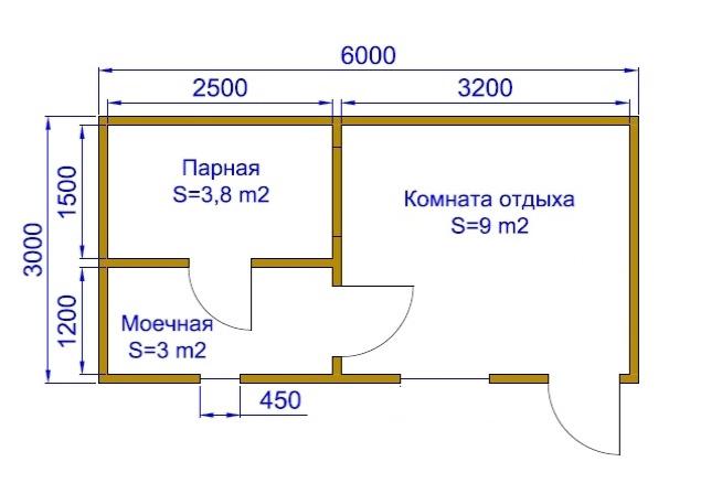 Схема-проект бюджетной бани